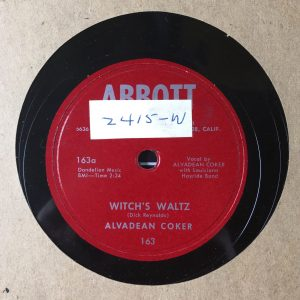 78rpm record label displaying artist name.