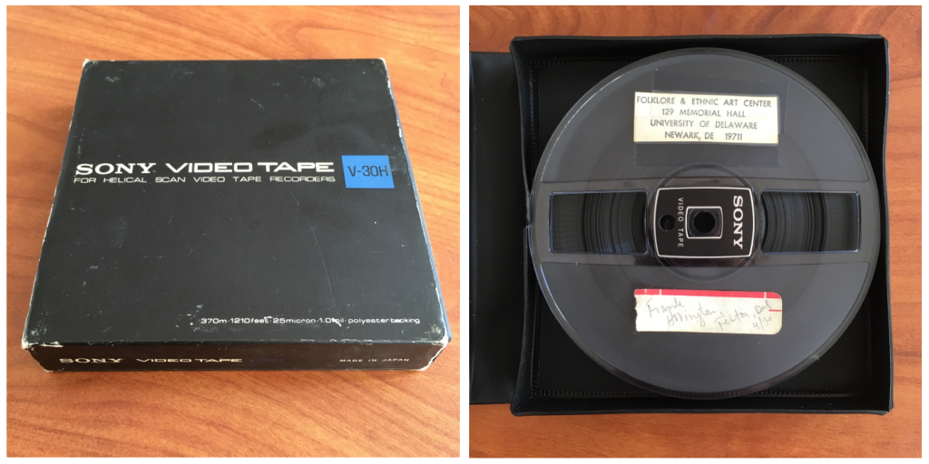 "the front cover and inside of the 1/2"" open reel video shot by Robert D. Bethke in 1978"