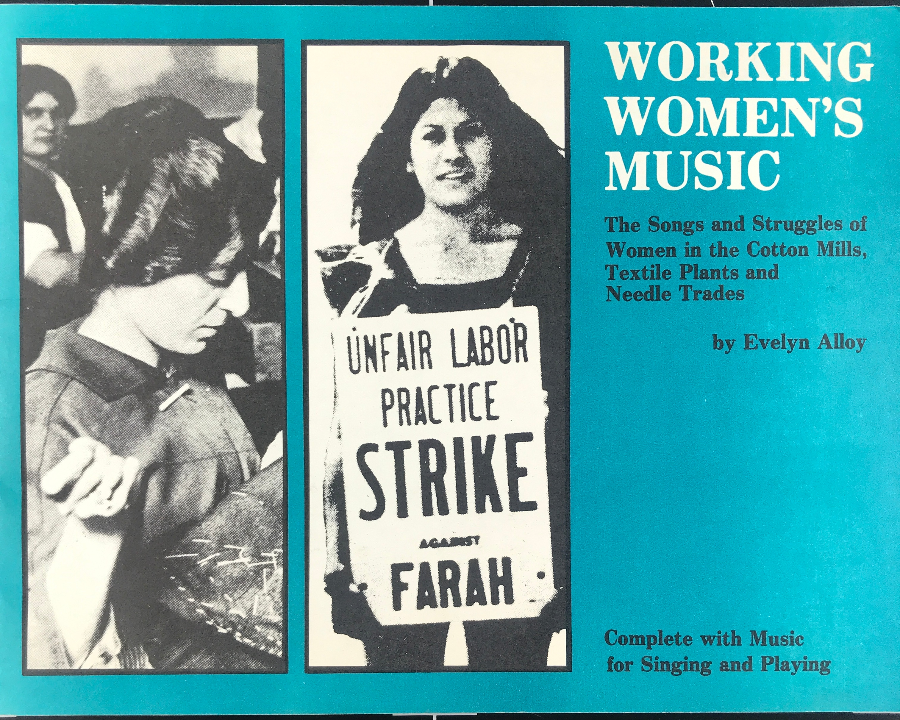 Front cover of Working Women's Music songbook