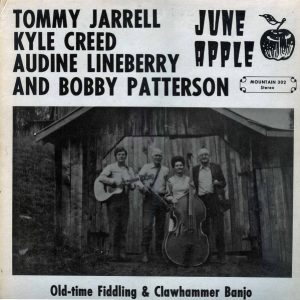 Album Cover for Old-time Fiddling and Clawhammer Banjo, Tommy Jarrell, Kyle Creed, Audine Lineberry, and Bobby Patterson, Mountain Records #