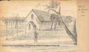 """Chapel, Fort Monroe, Va., 1863"" - from Herbert E. Valentine Papers, SHC #4397"