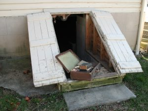 A briefcase full of documents that had been stored in the cellar of a historic home in Yanceyville, N.C.