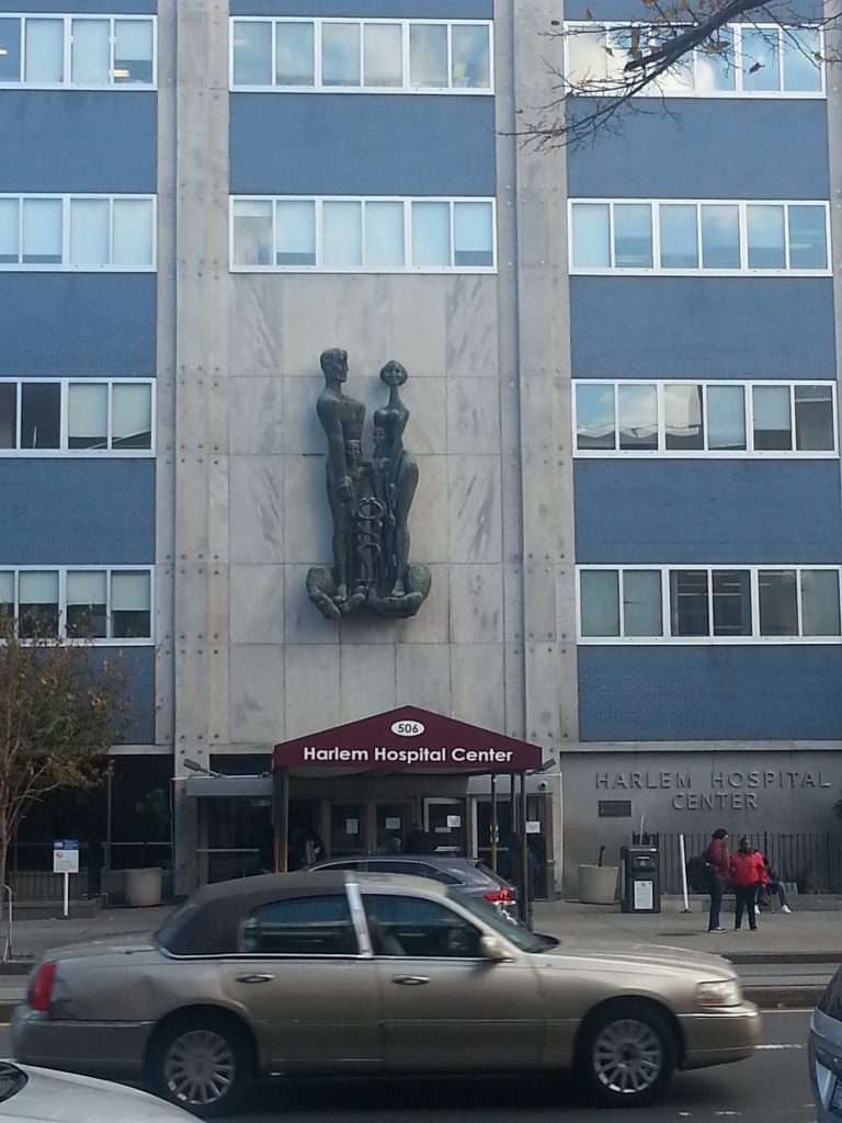 Facade of the Harlem Hospital Center, October 31, 2014