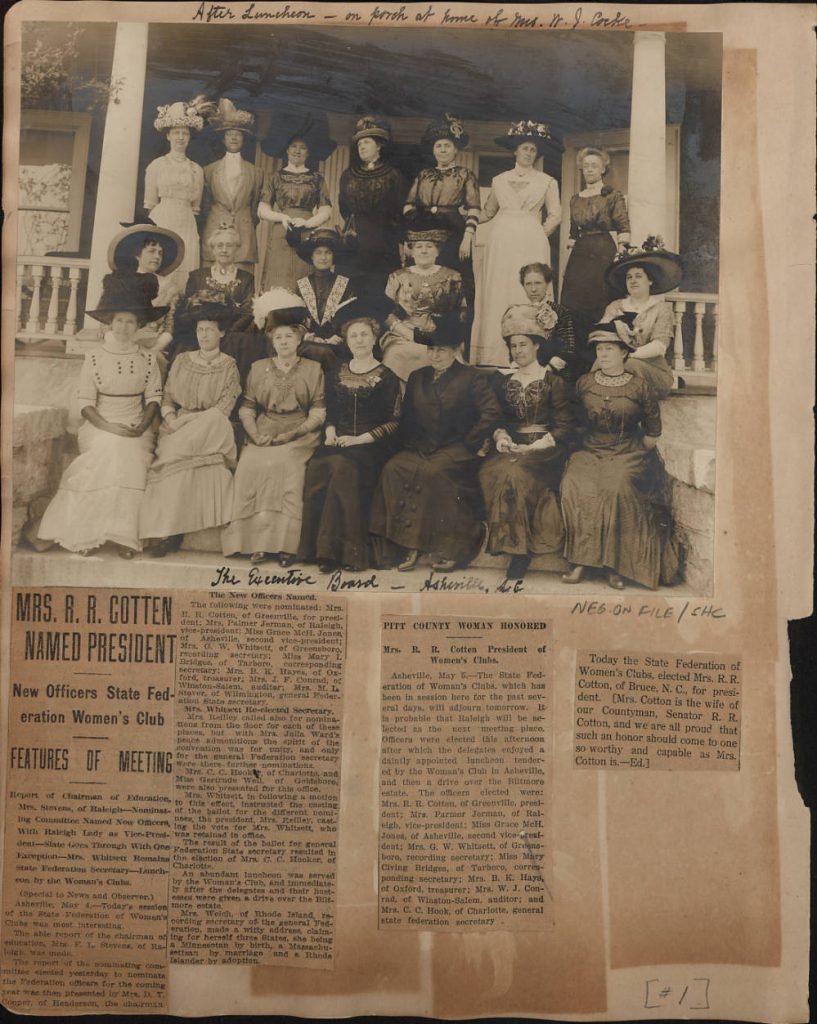 Oversize Volume SV-2613/4, in the Sallie Southall Cotten Papers #2613, Southern Historical Collection, The Wilson Library, University of North Carolina at Chapel Hill.