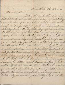 Joseph Nathaniel Allen Letter