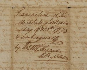 Mecklenburg Declaration of Independence - the Davie Copy