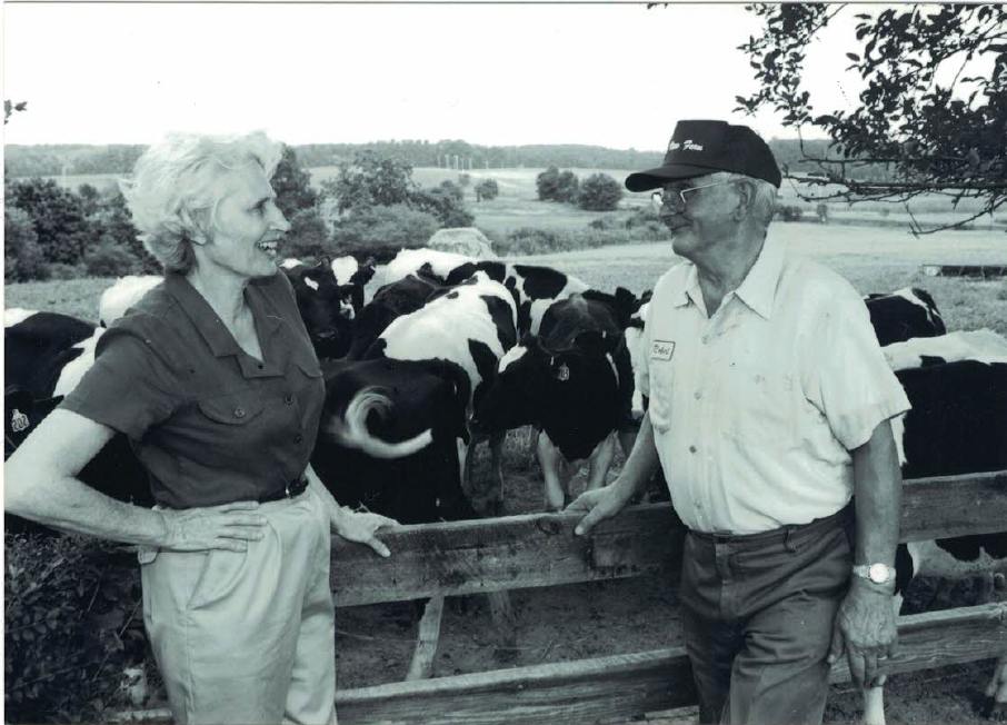 Figure 5: Ellie Kinnaird and Bob Nutter at Maple View Farm, around 1997 from the personal collection of Senator Eleanor Kinnaird