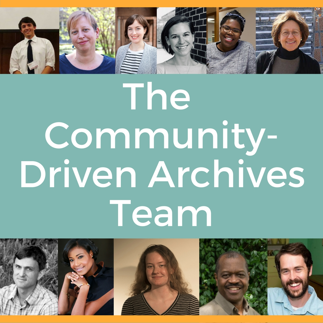 So What's a CDAT Anyway? Meet the Community-Driven Archives Team at the Southern Historical Collection