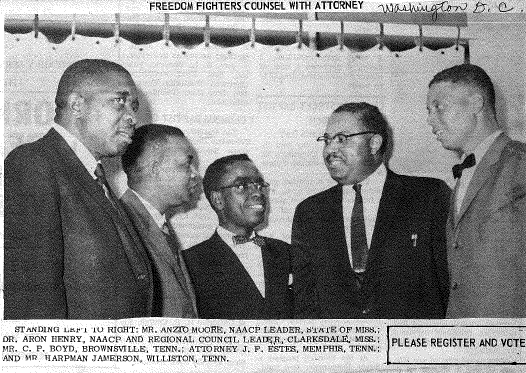 Five African American men in suits