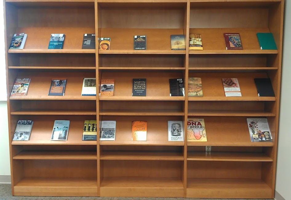 New books on display at the Stone Center Library