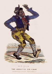 a historical dancing Jim Crow cartoon