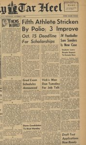 Cover of the Daily Tar Heel, Oct. 4, 1952