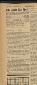 Daily Tar Heel editorial page, Oct. 3, 1952