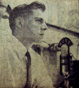 Carl Kasell in the Daily Tar Heel, January 19, 1955 (he Daily Tar Heel, North Carolina Collection, Wilson Library)