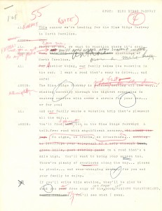 """Script for a """"Variety Vacationland"""" ad performed by Carl Kasell and Charles Kuralt in 1953 (Department of Radio, Motion Pictures, and Television Records #40086, University Archives, Wilson Library)"""