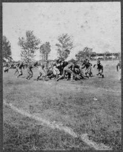 A football game in the early 1900s (University of North Carolina at Chapel Hill Image Collection #P0004, North Carolina Collection Photographic Archive)