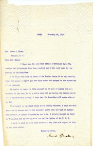"Letter from UNC President Francis P. Venable regarding the design of the Confederate Memorial (""Silent Sam""), February 25, 1910"