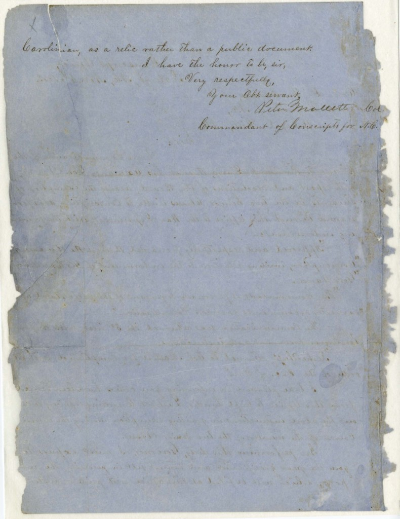 (University of North Carolina Papers (#40005), University Archives)