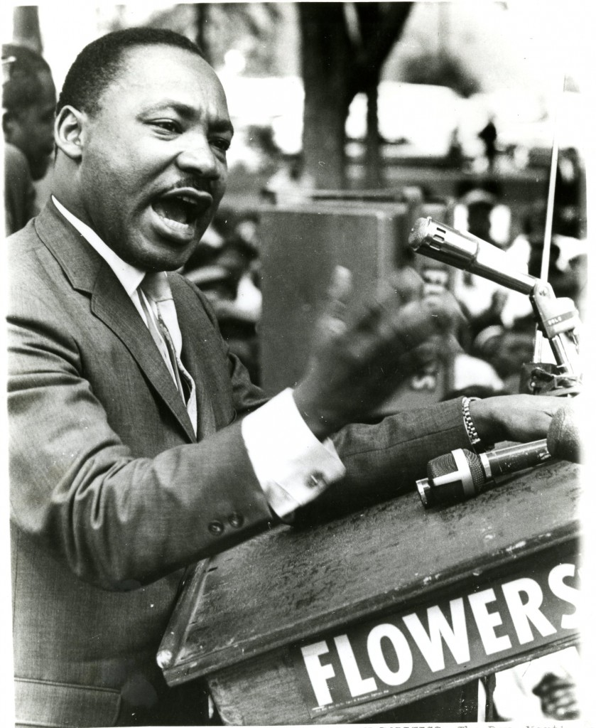 Dr. Martin Luther King, Jr. in Birmingham, AL on April 30th, 1966.  From the Records of the Black Student Movement, #40400, University Archives, Wilson Special Collections Library, University of North Carolina at Chapel Hill