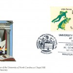 """Postal cachet by artist Maud Gatewood on the theme """"Art and Culture."""" Issued November 19, 1993."""