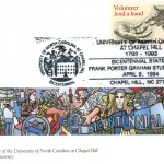 """Postal cachet by artist Allen """"Big Al"""" Carter on the theme """"Community."""" Issued April 9, 1994."""