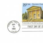 Post card featuring Bob Timberlake's watercolor of Playmakers' Theatre. Issued September 14, 1993.