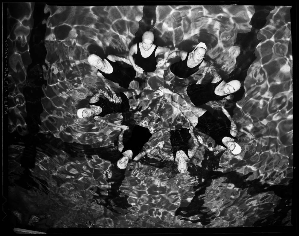 """Swimming Physical Education,"" 31 October 1960. From the UNC Photographic Laboratory Collection, P00031"