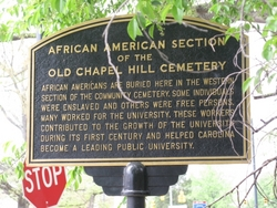 UNC Chapel Hill recognizes the segregated section of the historic cemetery.