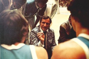 Smith speaking to players. From the 1973 Yackety Yack, North Carolina Collection.
