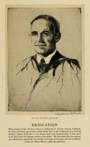 Yearbook dedication to Frank Porter Graham, 1931. From the Yackety Yack, DigitalNC.