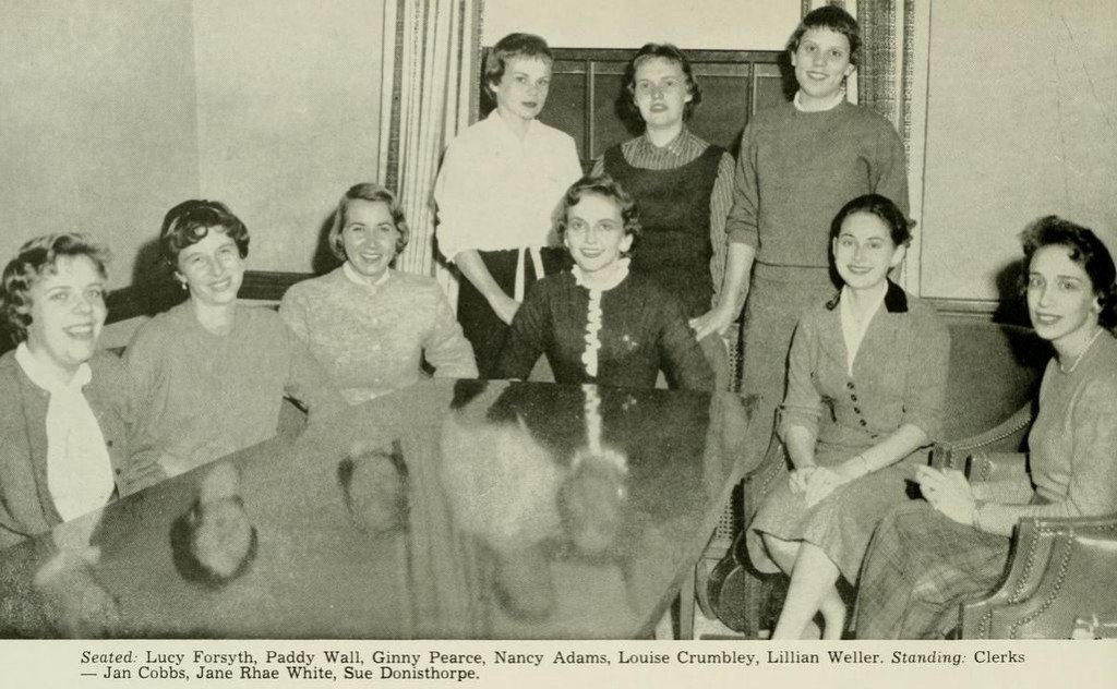 The Women's Honor Council for the 1958-1959 academic year. From the 1959 Yackety Yack, http://digitalnc.org