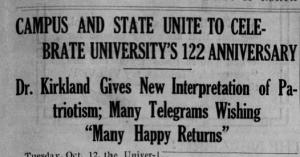 Daily Tar Heel, 14 October 1915. Image via Newspapers.com