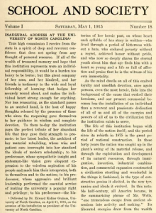 Edward Kidder Graham inaugural address, 12 April 1915.