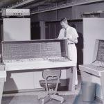 """Computation Center: UNIVAC"" circa 1959 From the University of North Carolina at Chapel Hill Photographic Laboratory Collection, 1946-1990 (#P0031/18479)"