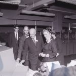 """""""UNIVAC demonstration: Governor and Mrs. Luther Hodges,"""" From the University of North Carolina at Chapel Hill Photographic Laboratory Collection, 1946-1990 (#P0031/19337)"""