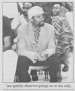 Spike Lee at UNC, 17 September 1992.