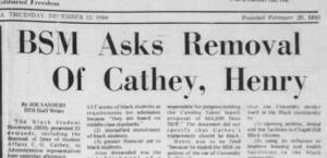 Daily Tar Heel, 12 December 1968.