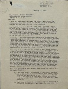 Pauli Murray to Frank Porter Graham, 17 January 1939, page one.