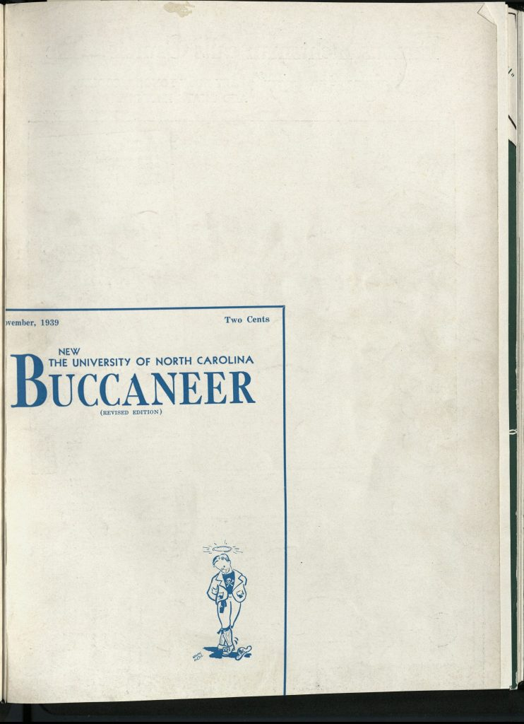 """Revised, """"Censored Edition"""" of the 1939 Buccaneer """"Sex Issue."""" North Carolina Collection."""