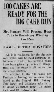Daily Tar Heel, 2 November 1923.