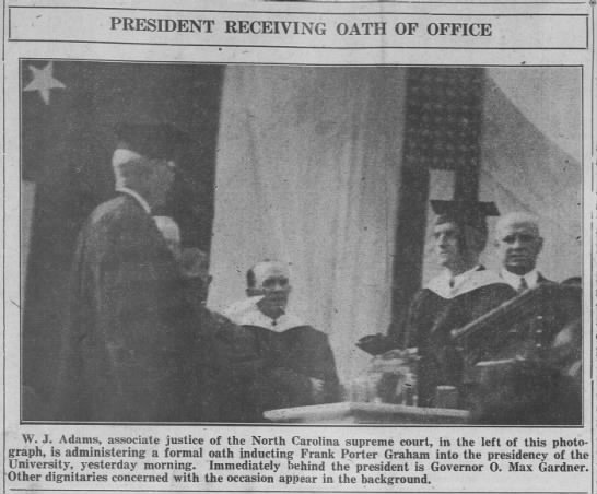 The Inauguration of Frank Porter Graham, 1931
