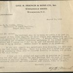 Letter from W.A. French to President Edward Kidder Graham, August 14, 1918