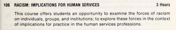 1974 School of Social Work catalog.