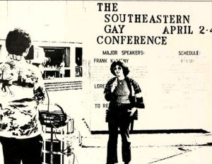 Photo from the Southeastern Gay Conference, from the 1976 Yackety Yack