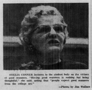 Otelia Connor, from the Daily Tar Heel, 9 March 1963.