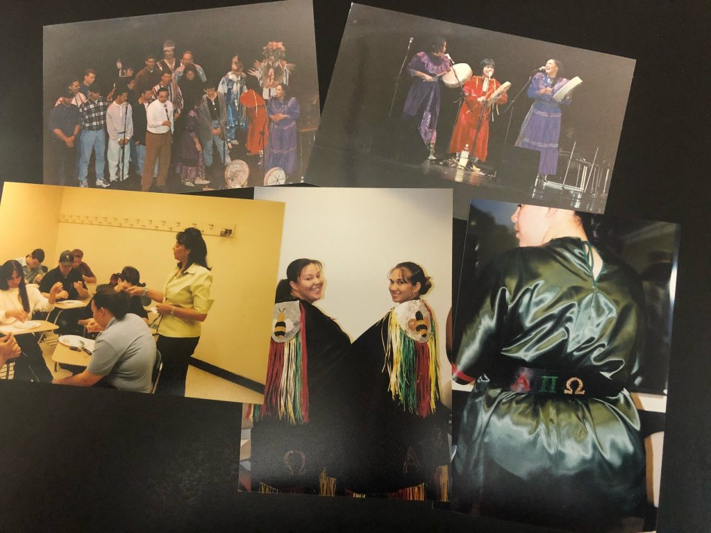 Carolina Indian Circle performance and beading workshop, ca. 1996-1997. Photo by Danny Bell.