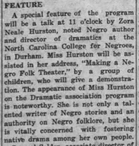 Daily Tar Heel, 7 October 1939.
