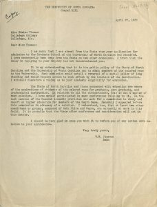 Scan of letter April 1938 Dean Pearson to Edwina Thomas